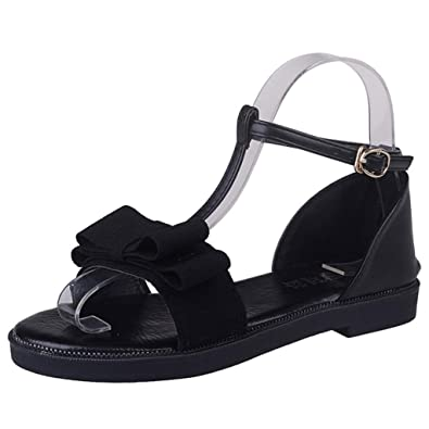 Women Non-slip Sandals Summer Flat With Buckle Strap Sandals