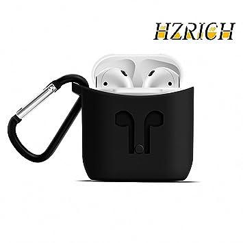 Airpods caso, hzrich Airpods silicona protectora caso, inalámbrico auriculares Airpods caso, [libre