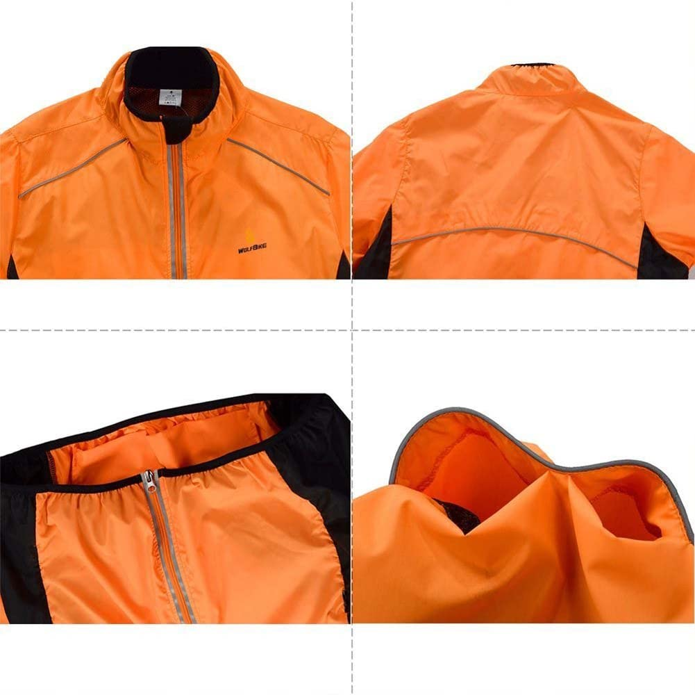 Details about  /Cycling Jersey Riding Jacket Clothing Bike MTB Long Sleeve Wind Coat Green F0H9