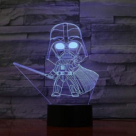 Malilove Dessin Animé Dark Vador 3d Illusion Optique Table