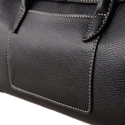 Yy.f Nuevos Bolsos De Cuero Señoras Forma Simples Bolsas De Cuero Bolso De Hombro En Diagonal De 3 Colores Black
