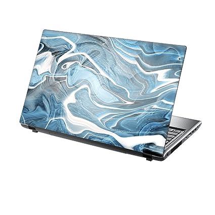 TaylorHe – Skin adhesivo de vinilo para portátiles de patrones de colores y acabado con efecto piel en Inglaterra Blue Texture
