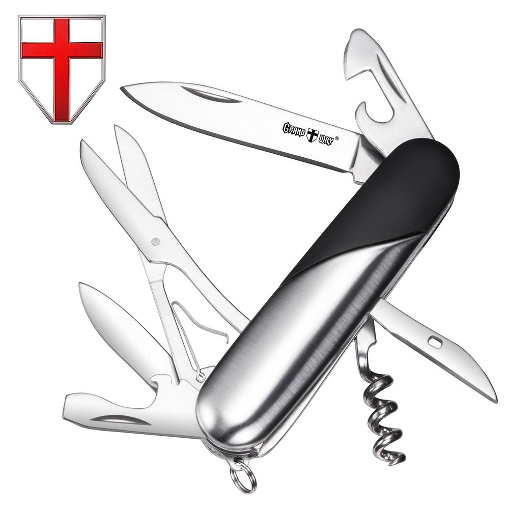 Swiss Army Knife Mens Pocket Knife Small Folding Camping