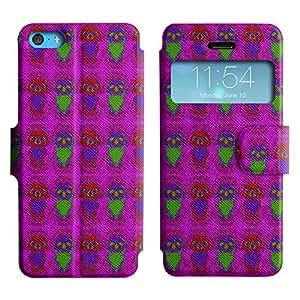 LEOCASE Dark Skull Funda Carcasa Cuero Tapa Case Para Apple iPhone 5C No.1002303