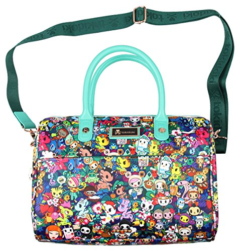 Tokidoki Rainforest Bowler Satchel Handbag , Green/Multi