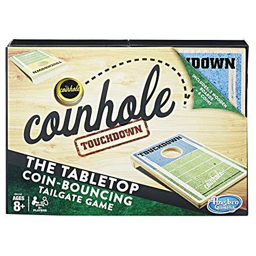Coin Toss Game (Coinhole Touchdown Coin-Tossing Table Top Cornhole Party Game Ages 8 and Up (Amazon)