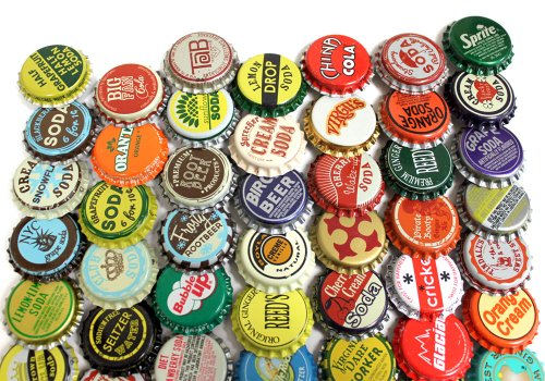 Blank Bottle Caps - 100 Vintage and Vintage Inspired Bottle Caps Random Mix