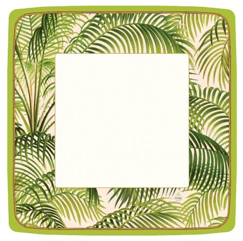 Paper Plates Dinner Plates Beach Party Hawaiian Luau Beach Party Under the Palms Square Pk (Tropical Palm Dinner)