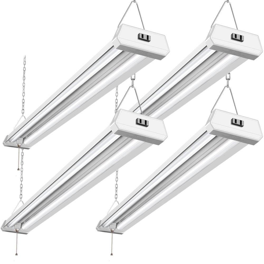 42W Linkable LED Shop Light for Garage BBOUNDER 4FT 5000K LED Garage Light Surface and Hanging Mounting for Workshop Garage (4Pack)