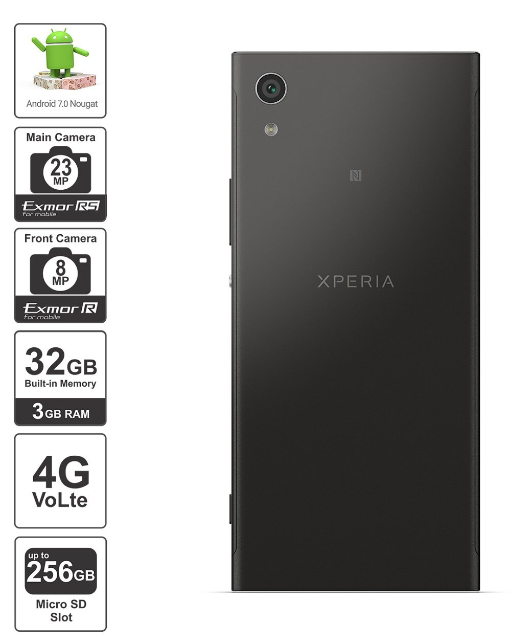 Sony xperia xa1 dual black 32gb amazon electronics fandeluxe