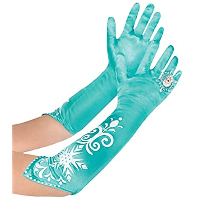 Disney Frozen Long Elsa Costume Gloves: Toys & Games