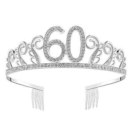 Samidy Tiara de cristales para 60 cumpleaños, corona de ...