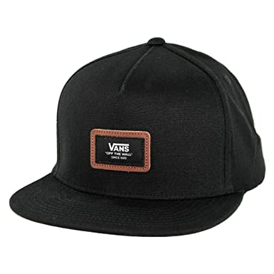 12449e7bfa6 Vans Off The Wall Fiske Snapback Hat (Black) Men s 5-Panel Leather ...