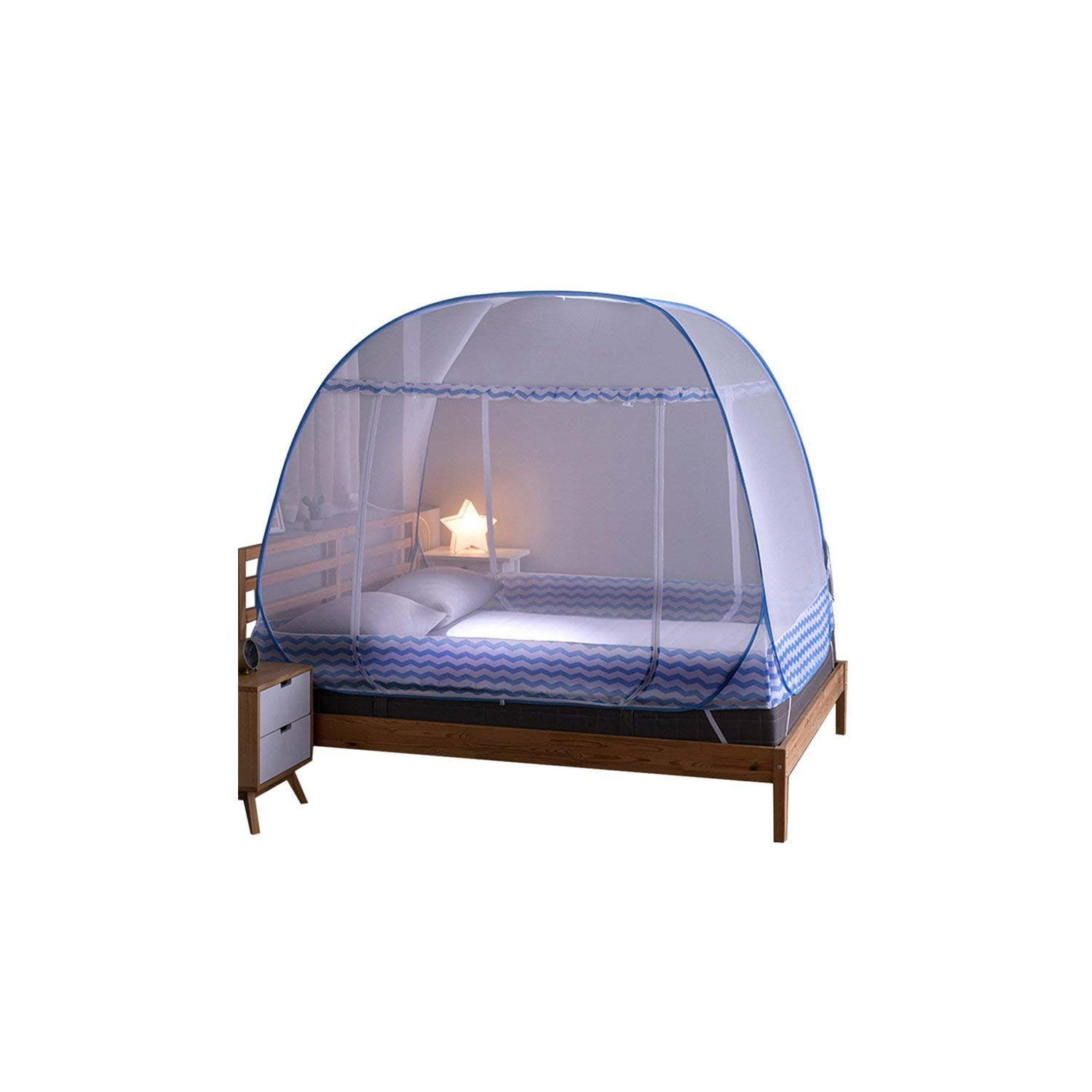 Mosquito Bed Netting Tent Durable Home Decor Student Bunk Breathable Mosquito Net Bed Net Mesh Tent,Blue,L