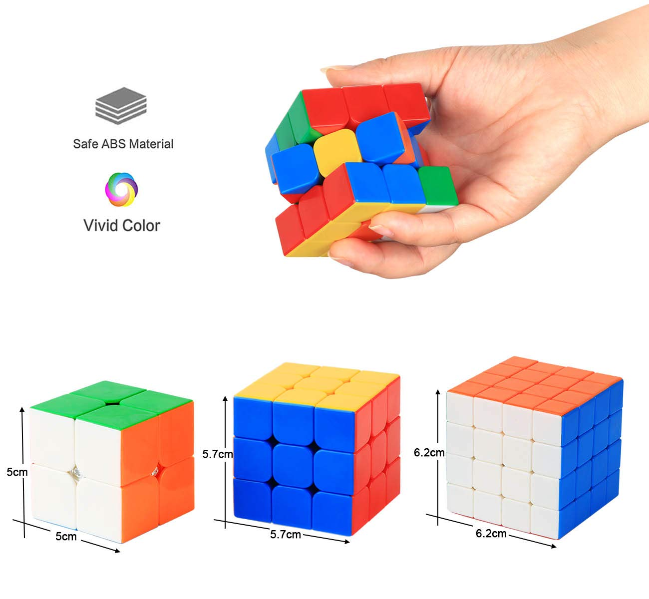 CKClink Zauberw/ürfel Set,Speed Cube Set 2x2x2 3x3x3 4x4x4 Magic Cube Magic Cube Puzzle Spielw/ürfel f/ür Anf/änger