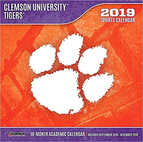 Clemson Calendar 2019 Clemson University Tigers 2019 Sports Calendar: Inc. Lang