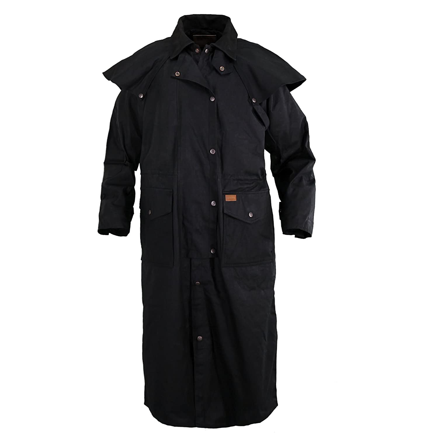 Black XXLarge Outback Trading Stockman Duster