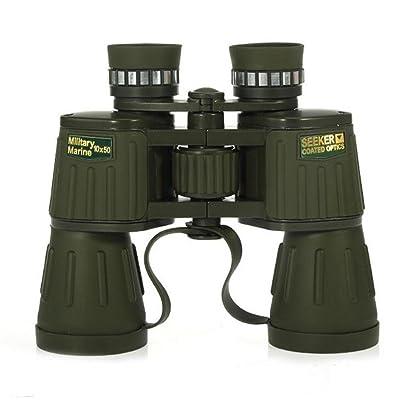 TTYY Jumelles 10X50 HD Portable étanche pour l'observation des oiseaux en plein air Chasse de la faune Tourisme BAK-4 Prism