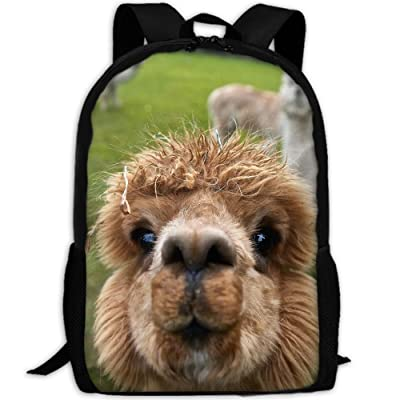 SZYYMM Alpaca Oxford Cloth Casual Unique Backpack, Adjustable Shoulder Strap Storage Bag,Travel/Outdoor Sports/Camping/School For Women And Men high-quality
