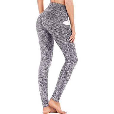 1b19704fb6 JESPER Women's Print Workout Leggings Fitness Sports Gym Running Yoga  Athletic Pants (X-Small