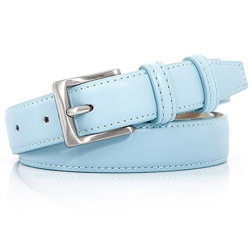 JIEJING Señoras Elegante Cinturón,Pin Hebillas Simple Salvaje Ocio Cinturón Decoración Jeans Vestido...