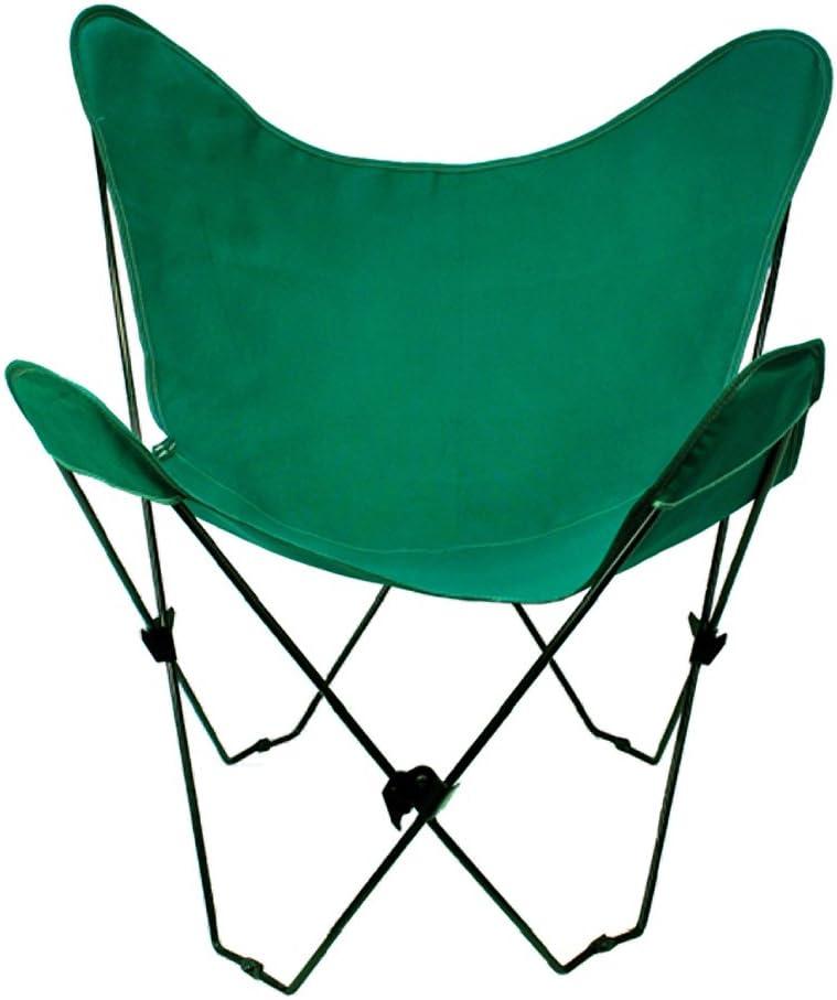 Algoma 4053-50 Butterfly Chair Black Frame, Hunter Green