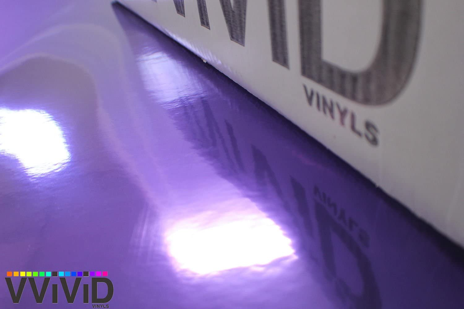 3ft x 5ft VViViD Purple Chrome Wrap Vinyl with Air-Free Channels and Ready to Use Adhesive DIY