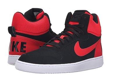 093b3d76bd2d6 Nike Men's Court Borough Mid Basketball Shoe, Black/Action red/White, 13
