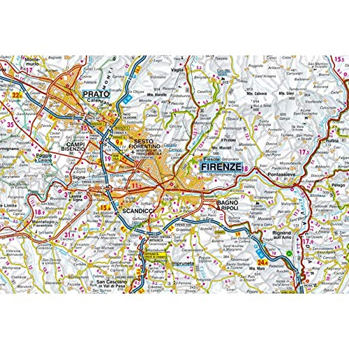 Cartina Stradale Toscana Dettagliata.Amazon It Carta Stradale Della Toscana 1 200 000 Libri