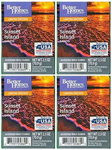 Better Homes and Gardens Sunset Island Sands Scented Wax Cubes - 4-Pack from Better Homes & Gardens