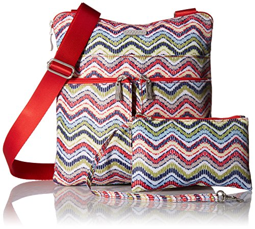 �C Wave Horizon Bag Removable Baggallini Purse Multi Water Lightweight Pocketed Print Wristlet with Resistant Travel Crossbody fAwxnx