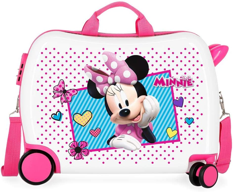 Maleta infantil 2 ruedas multidireccionales Minnie Joy