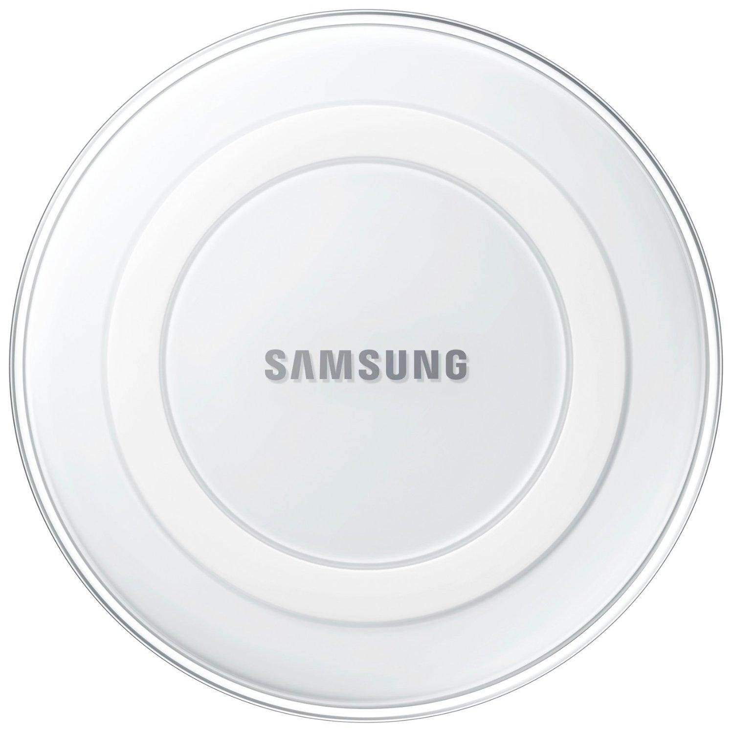 Samsung EP-PG920IWUGUS Qi Certified Wireless Charging Pad with 2A Wall Charger -Supports wireless charging on Qi compatible smartphones including the Galaxy S8, S8+, Note 8, Apple iPhone 8, and 8 Plus (US Version) - White Pearl