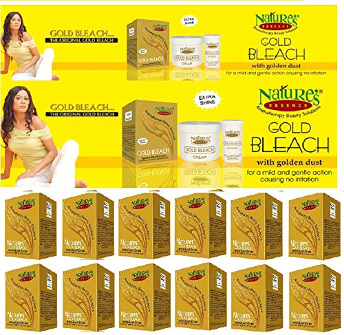 Nature's Extra Shine Gold Bleach Fairness Bleach Cream 43 g (Pack of 12) Wholesale Pack by Nature's Essence