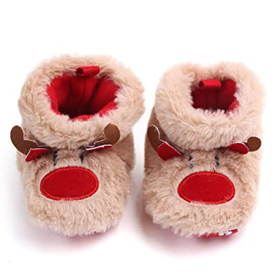 Christmas Boots For Girls.Amazon Com Aofitee Toddler Baby Boys Girls Reindeer
