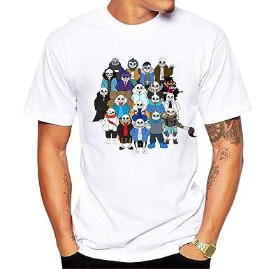 Undertale Camisetas Moda T-Shirt Camiseta O-Cuello Divertido ...