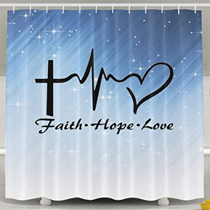 Image Unavailable Not Available For Color Bizwheo Faith Hope Love Shower Curtain