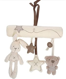 Ruikey Baby cute Music Plush Activity Crib Stroller Baby Bed Hanging Rabbit Star Shape Toy Best Baby Gift