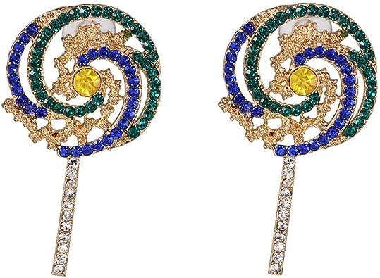 Lovely Lollipop Candy Earrings Drop Dangle Stud Ear Women Cute Jewelry 1 Pair