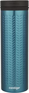 Contigo Vaccum-Insulated Stainless Steel TwistSeal Glaze Travel Mug, 20 oz, Biscay Bay
