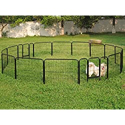 ABC.store 16 Panel Heavy Duty Metal Cage Crate Pet Dog Cat Fence Exercise Playpen Kennel
