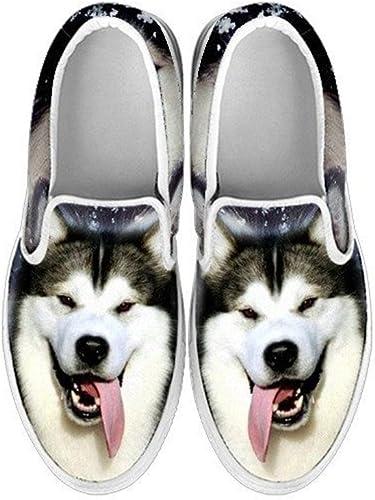 Pawlice White Shepherd Dog Print Slip ONS Shoes for Kids for White Shepherd Dog Lovers