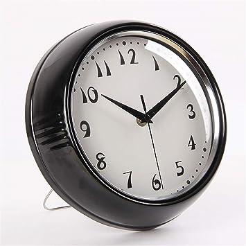 Wall clock WERLM Reloj de Pared Simple salón Dormitorio Retro Mute no Digital Reloj de Pared