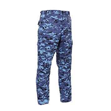 usa cheap sale coupon code outlet online Sky Royal Blue Black Digital Camo Bdu Cargo Sport Military ...