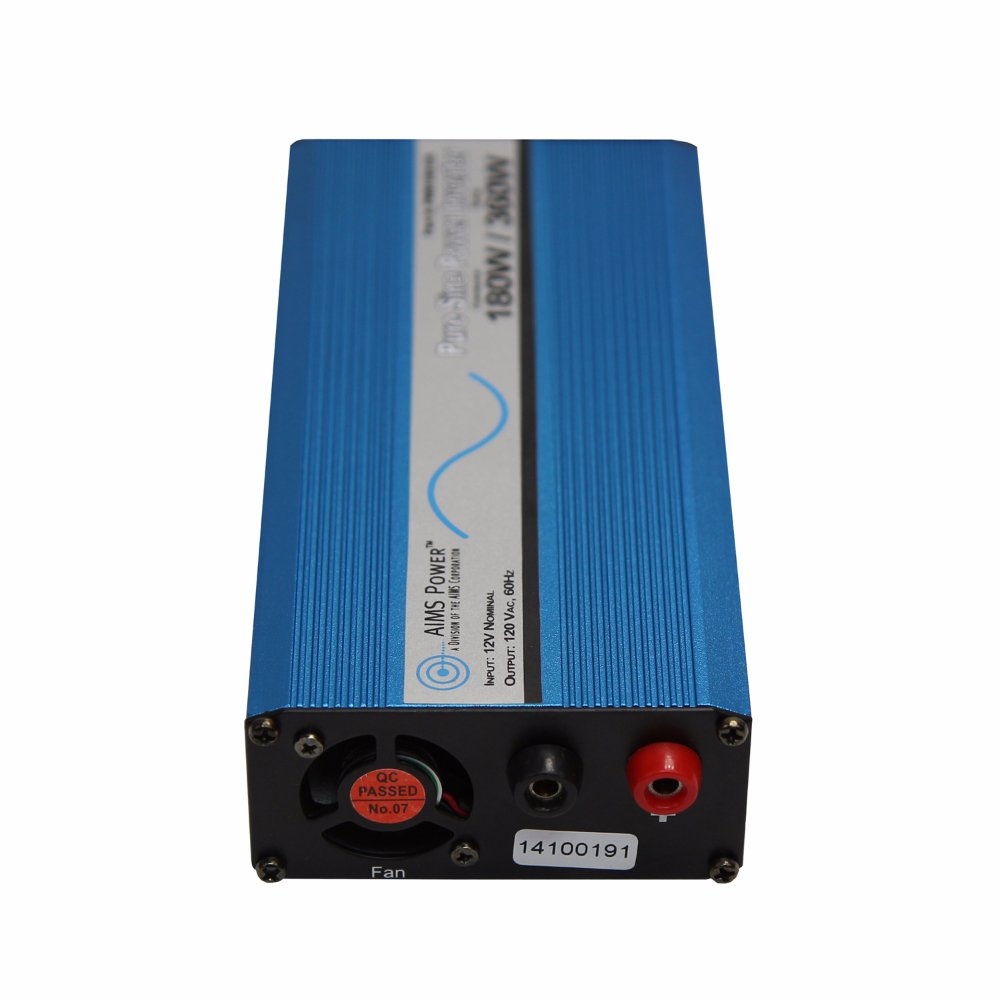 Aims 180 Watt Pure Sine Car Power Inverter With Cables How To Build A100 Wave Circuit Homemade Usb Port Automotive