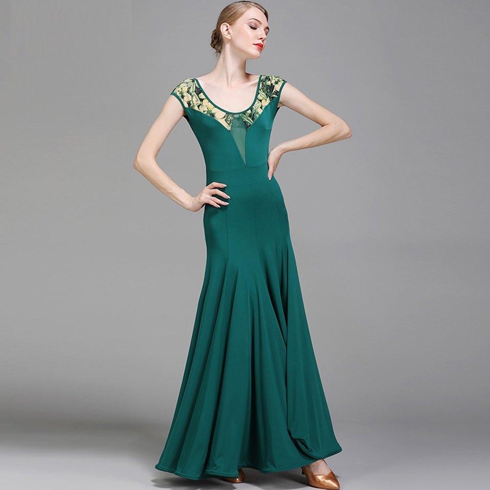 Amazon.com: Mujeres vestido de baile de cuello corto mangas ...