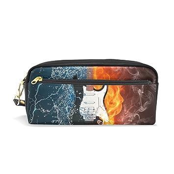 BONIPE - Estuche para lápices de guitarra de fuego y agua ...