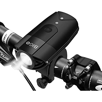 BIGO Luces Bicicleta Delantera y Trasera Recargable USB LED Luz Bicicleta de Montaña Luz Bici Impermeable Linterna Delantera para Bicicletas Super Brillante Luces Bici 5 Modos, 900 LM