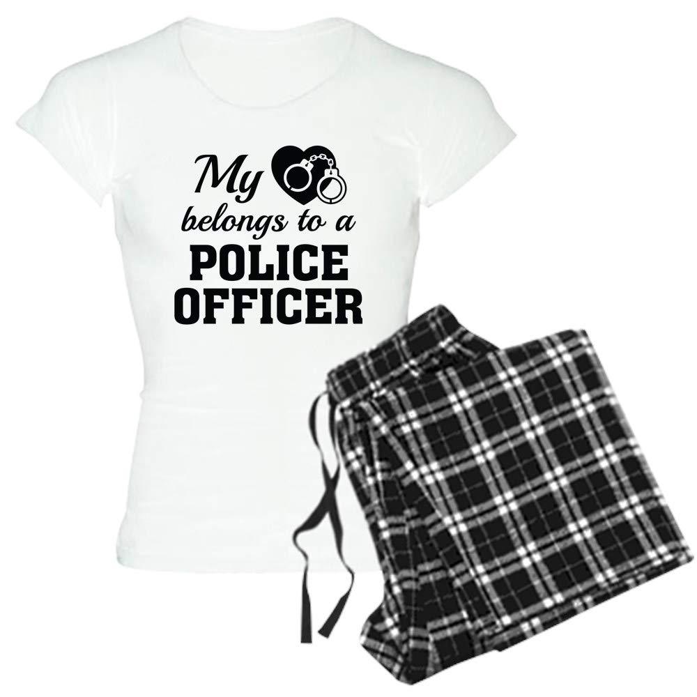 CafePress Heart Belongs Police Officer Womens PJs