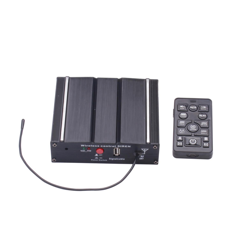 Als 100/W Federal Sirene Kit as7100d-spk0021/3/Pack 20/T/öne 12/V mit Sirene Box Lautsprecher Wireless Fernbedienung Mikrofon f/ür verschiedene Fahrzeuge